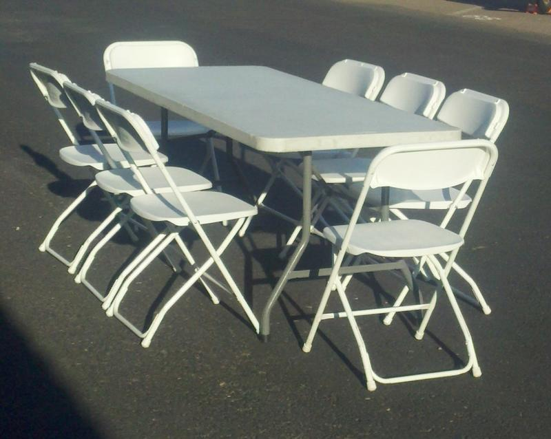 Party table And folding chair Rentals In Phoenix Scottsdale Arizona