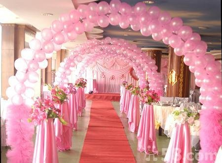 Balloon decorations in phoenix for Ballon wedding decoration