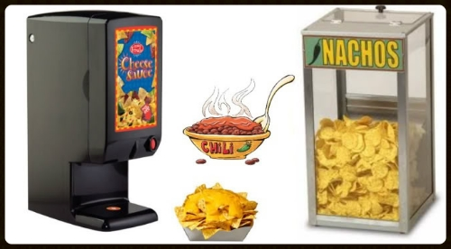 nacho cheese dispenser and chip warmer